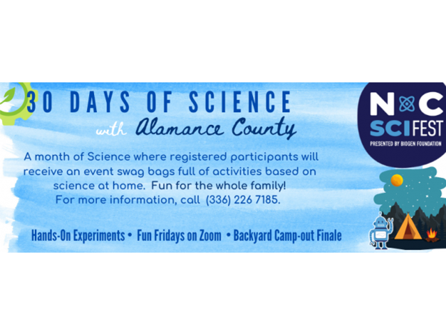 30 Days of Science: Alamance County