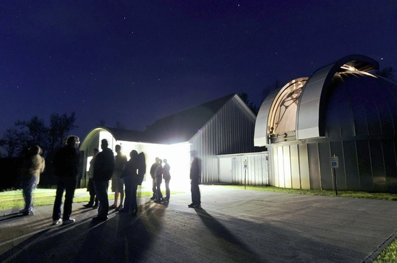 Guests gather for a night under the stars at the ASU Dark Sky Observatory