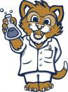 Coltrane-Webb cougar mascot dressed as a scientist