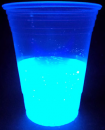 Glowing solution