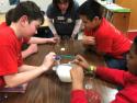 Students doing science activities