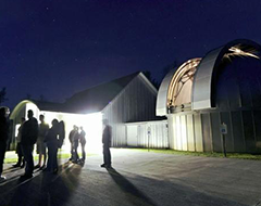 AppState Observatory at night